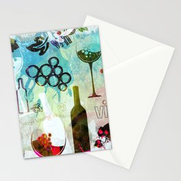 Abstract Wine Background Stationery Cards