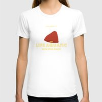 steve zissou T-shirts featuring The Life Aquatic with Steve Zissou Beanie Poster by She's That Wallflower
