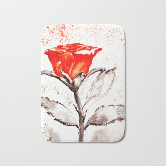 Just another rose Bath Mat