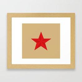 Red Star Communist Framed Art Print