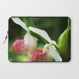 Showy Ladyslipper Flowers, Cypripedium Laptop Sleeve