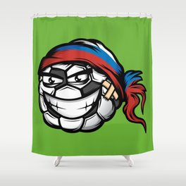 Football - Russia Shower Curtain