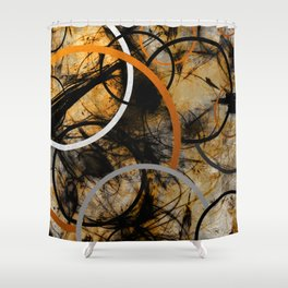 Rustic Hypnosis Shower Curtain