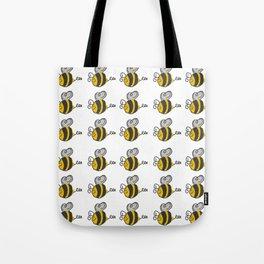 Hand drawn black yellow stripes cute honey bee illustration Tote Bag