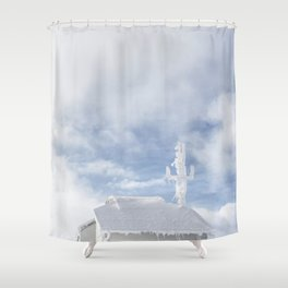 No Reception Shower Curtain