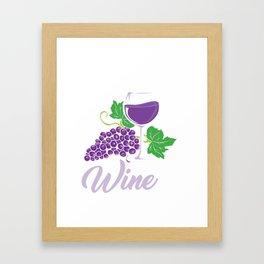 My Favorite Color Is Wine Gift Idea Framed Art Print
