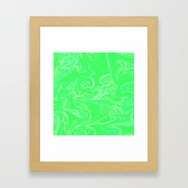 Neon green abstract Framed Art Print