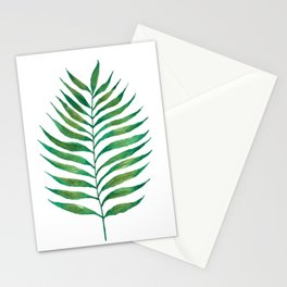 Palm Frond Watercolor Painting Stationery Cards