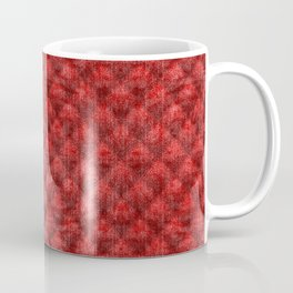 Quilted Bright Red Velvety Design Coffee Mug