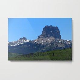 Chief Mountain Metal Print