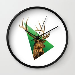 LOW POLY ELK Wall Clock