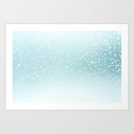 An illustration of the water bubbles background.  Art Print