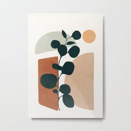 Soft Shapes V Metal Print