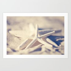 White Starfish Art Print
