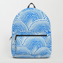 Many Blue Dots, White Background Backpack