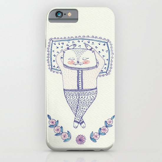 sleepy cat iPhone & iPod Case
