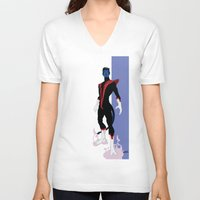 nightcrawler V-neck T-shirts featuring Nightcrawler by Andrew Formosa