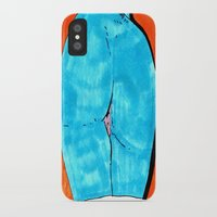 butt iPhone & iPod Cases featuring blue butt by withapencilinhand