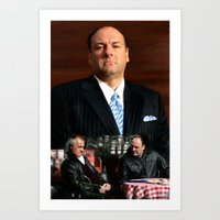 sopranos Art Prints featuring The Sopranos - James Gandolfini Tribute 2 by Gabriel T Toro