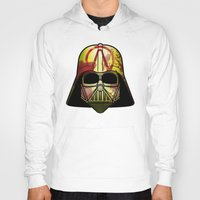 borderlands Hoodies featuring The Borderlands of the Darth Side by Cranial Matter