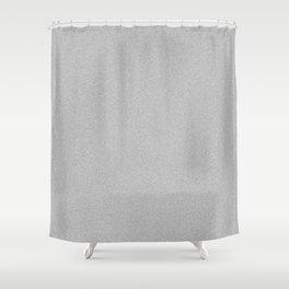 Dense Melange - White and Gray Shower Curtain