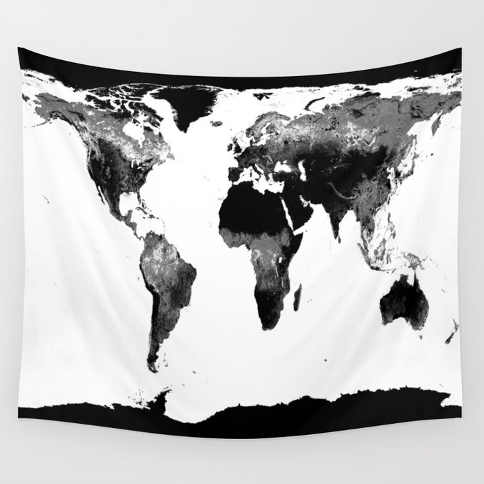 World map black white wall tapestry by lilkiddies society6 world map black white wall tapestry gumiabroncs