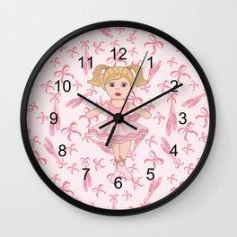 Adorable Ballerina Wall Clock