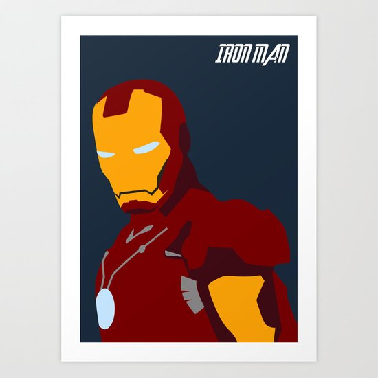 Iron man Art Print