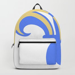 Two Tone Fleur-de-Lis Backpack