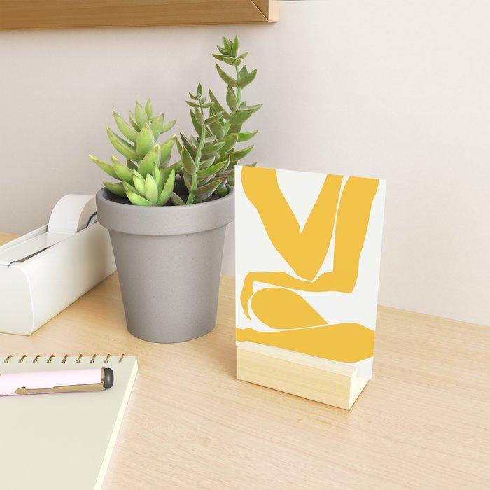 Yellow anatomy Mini Art Print