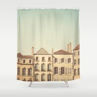 art history Shower Curtains featuring designated town of art & history ... by Laura Evans