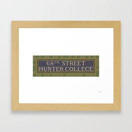 68 Street Hunter College Framed Art Print