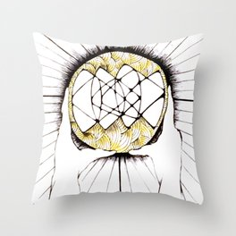 Sun Hands Throw Pillow
