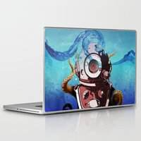 diver Laptop & iPad Skins featuring Diver by Tony Vazquez