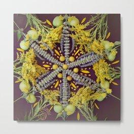 Nature Mandala: August II Metal Print