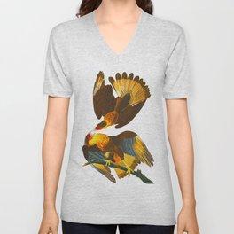 Caracara Eagle Illustration Unisex V-Neck