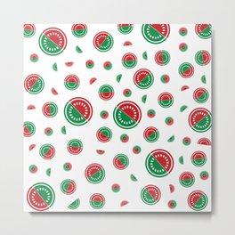 Watermelon in red/green Metal Print