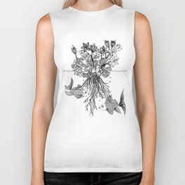 Waterlilies and goldfishes Biker Tank
