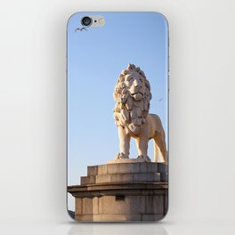 Lion statue guardian of westminster bridge London iPhone Skin