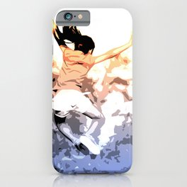 Euphoria, happy kid jumping in the air iPhone Case