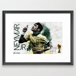Neymar Jr. Framed Art Print