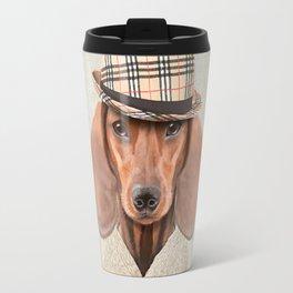 The stylish Mr Dachshund Travel Mug