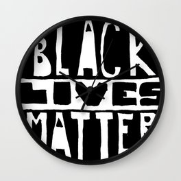 Black Lives Matter Filled Wall Clock