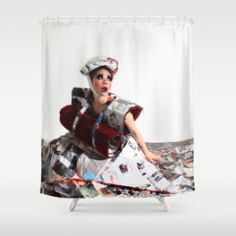 Trapped In the Fashion Shower Curtain