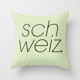 Schweiz//Pistachio   Throw Pillow