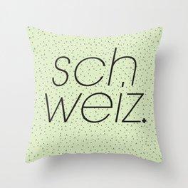 Schweiz//Pistachio   Throw Pillow