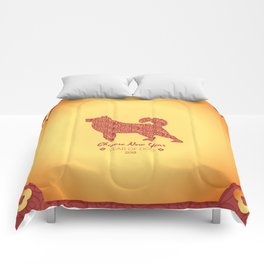 Chinese New Year poster for the year of the earth dog 2018 Comforters