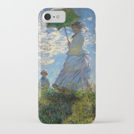 Woman with a Parasol - Madame Monet and Her Son iPhone Case