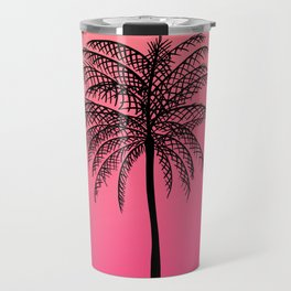 Tropical Pink Coral  Palm Tree California Sunset Travel Mug