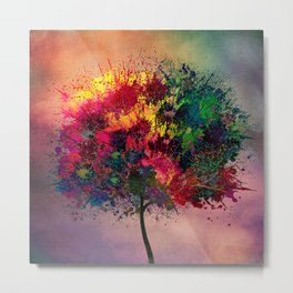 Love in Fall Metal Print